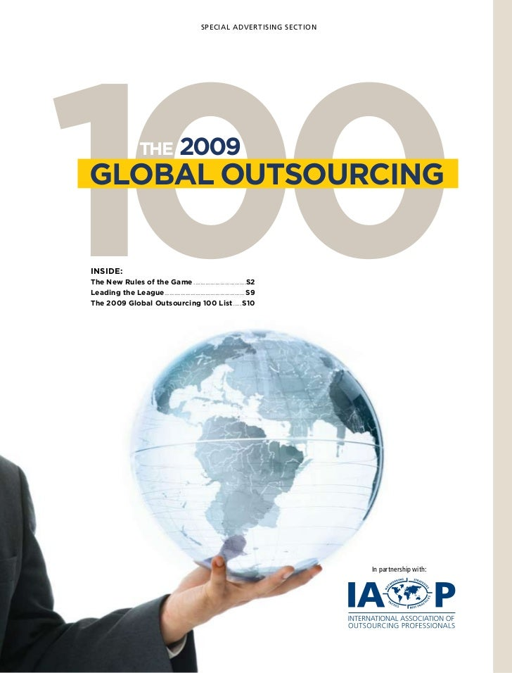 SPECIAL ADVERTISING SECTION100GLOBAL OUTsOURCInGInsIde:                    THe              2009The new Rules of the Game....