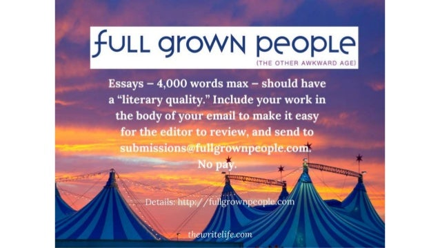 Magazines that publish essays