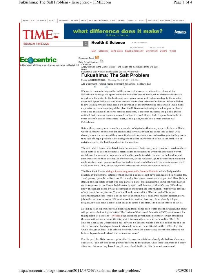 Fukushima: The Salt Problem - Ecocentric - TIME.com                                                                       ...