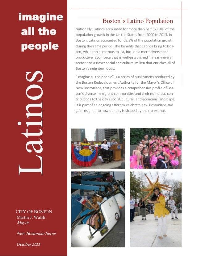 new boston hispanic single men National vital statistics reports volume 61, number 3  hispanic origin,  just a single complete cohort life table requires data over many years.