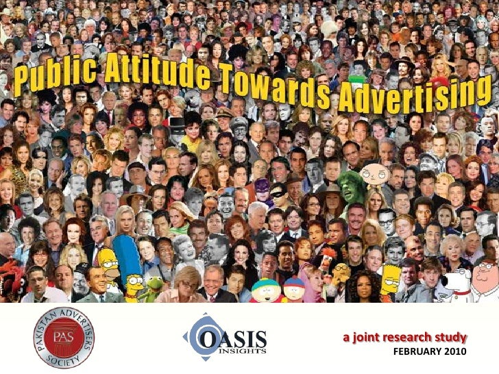 Public Attitude towards Advertising