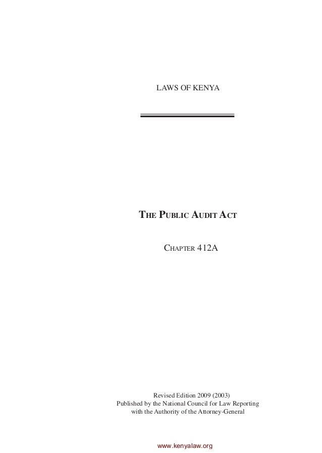 Public audit act