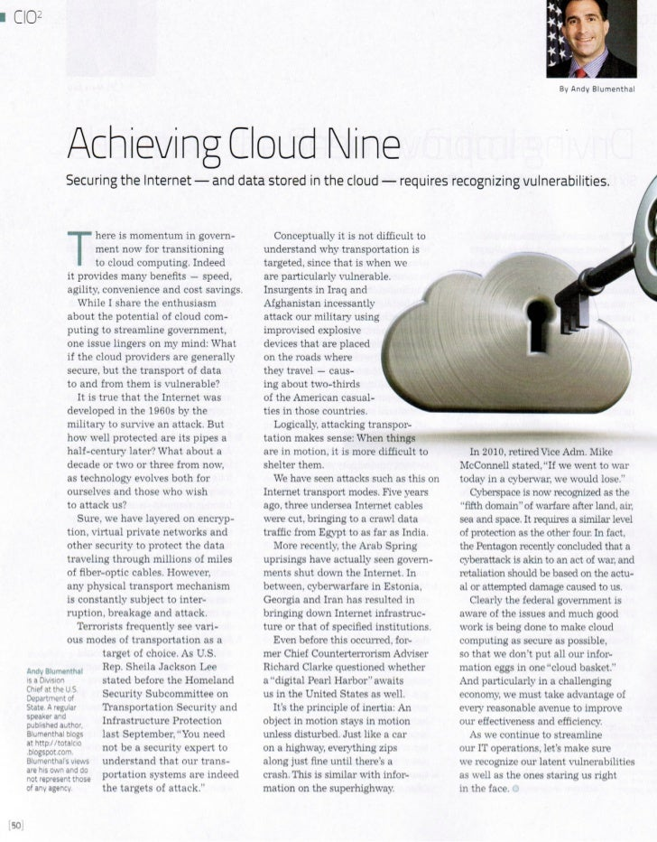 Achieving Cloud Nine - Andy Blumenthal