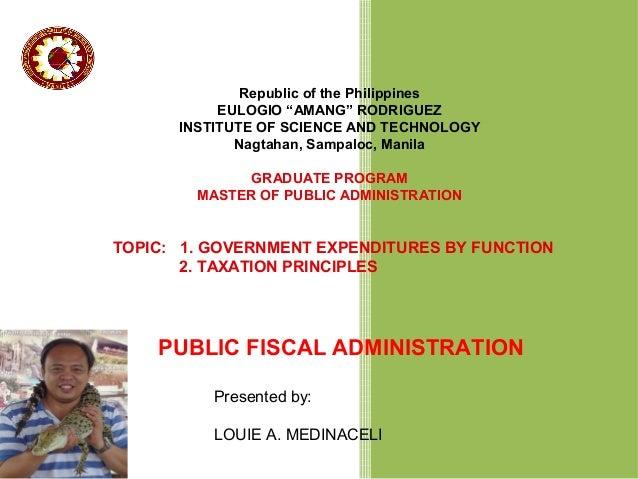 Public fiscal admin report