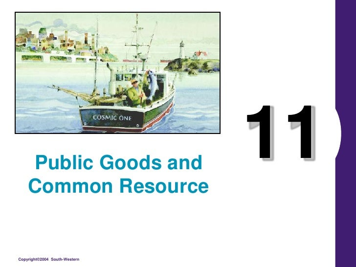11<br />Public Goods and Common Resource<br />