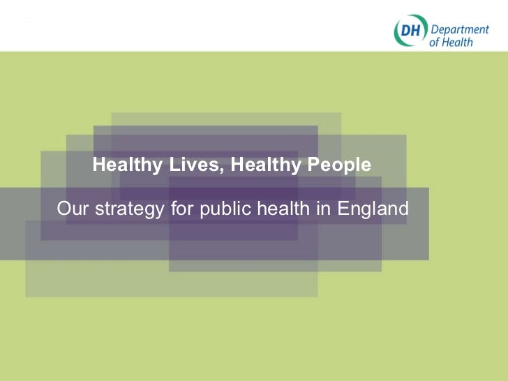 Healthy Lives, Healthy People Our strategy for public health in England