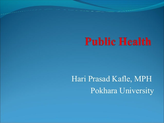 Career Opportunity in Public Health_ Hari Prasad Kafle