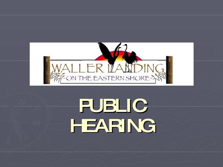 Public Hearing Pres 2