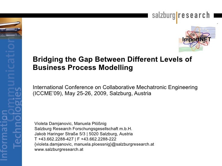 Bridging the Gap Between Different Levels of Business Process Modelling  International Conference on Collaborative Mechatr...