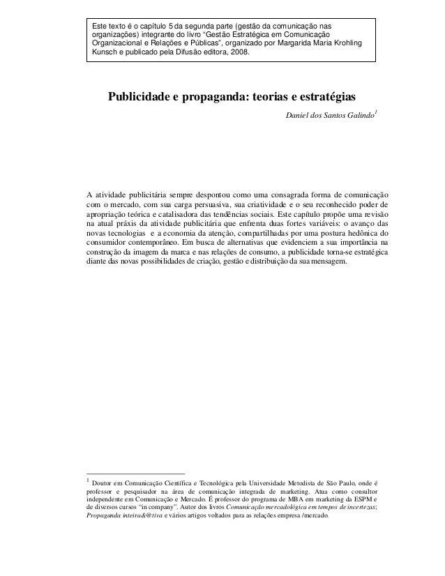 """Este texto é o capítulo 5 da segunda parte (gestão da comunicação nas organizações) integrante do livro """"Gestão Estratégic..."""