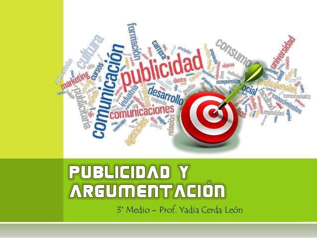 3° Medio – Prof. Yadia Cerda León
