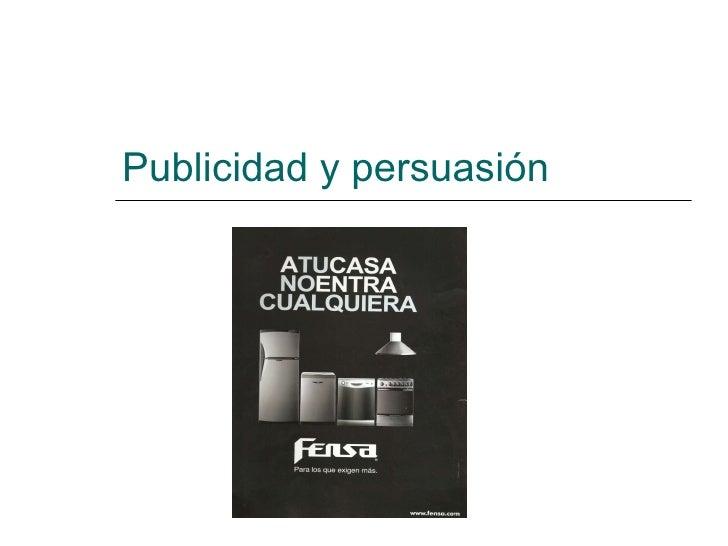 Publicidad y persuasión