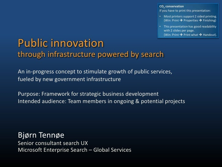Public infrastructure powered by search