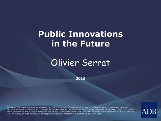 Public Innovations in the Future