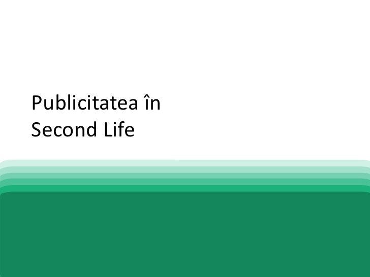 Publicitatea în Second Life