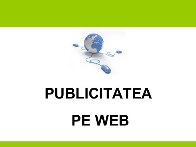 PUBLICITATEA PE WEB