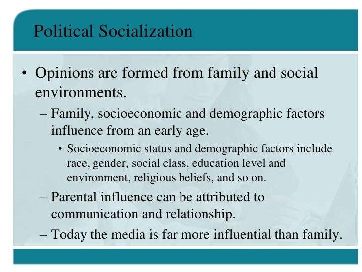 10 factors of political socialization