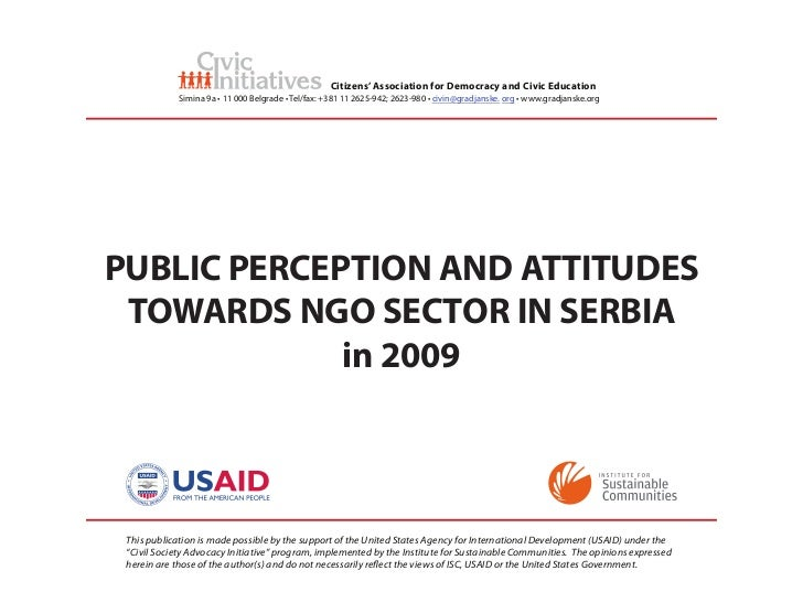 Public Perception about NGOs in Serbia