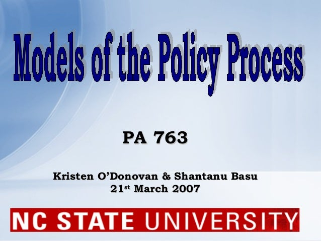 Public policy analytical models