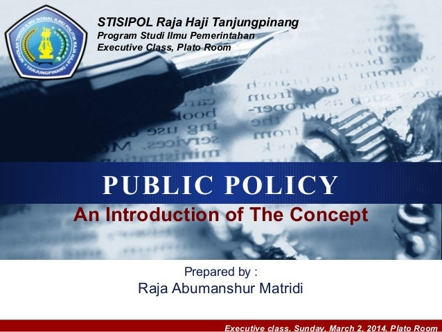 Kebijakan Publik (An Introduction of The Public Policy Concept)