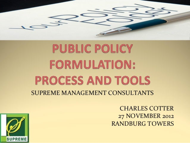 SUPREME MANAGEMENT CONSULTANTS CHARLES COTTER 27 NOVEMBER 2012 RANDBURG TOWERS