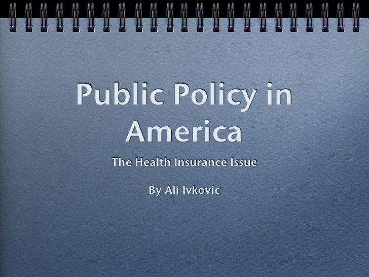 Public Policy Presentation