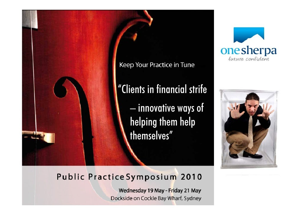 Clients in Strife - Innovative ways to