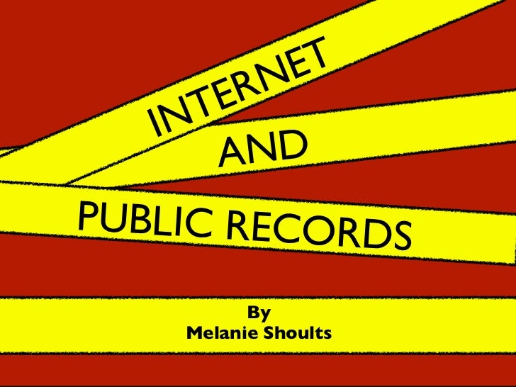 The Internet and Public Records