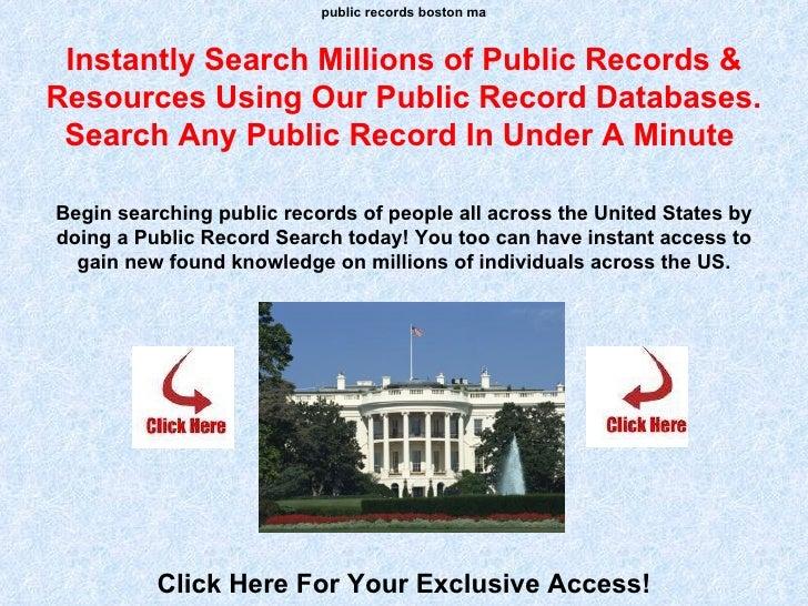 Public Records Boston Ma
