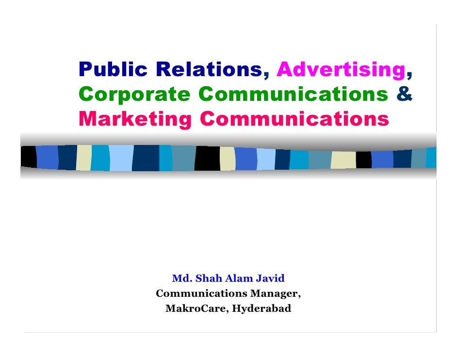 Public Relations, Advertising, Corp Comm & Mar Com  1 F