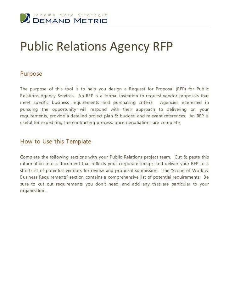 public relations agency rfp. Black Bedroom Furniture Sets. Home Design Ideas
