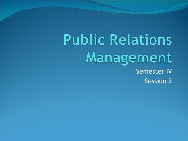 Semester IV Session 2