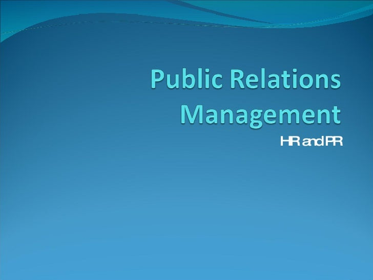 HR and PR