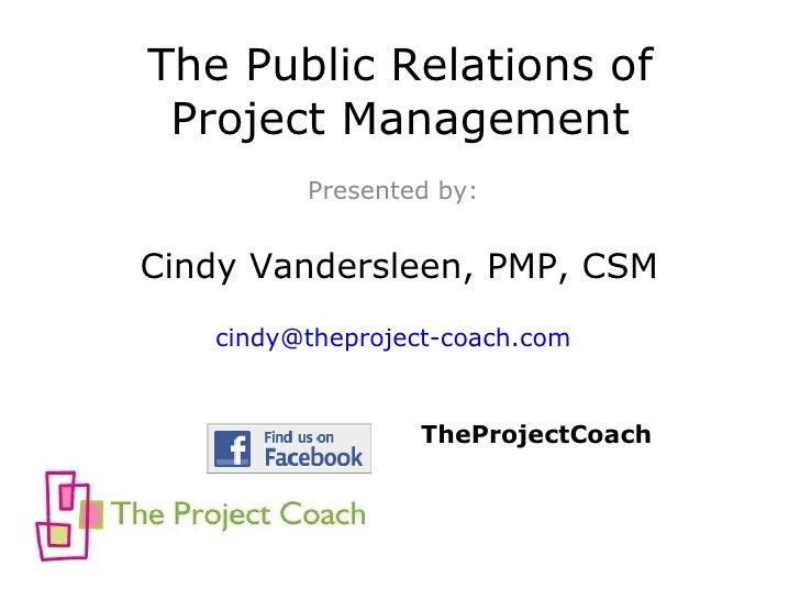 Public Relations Of Project Management