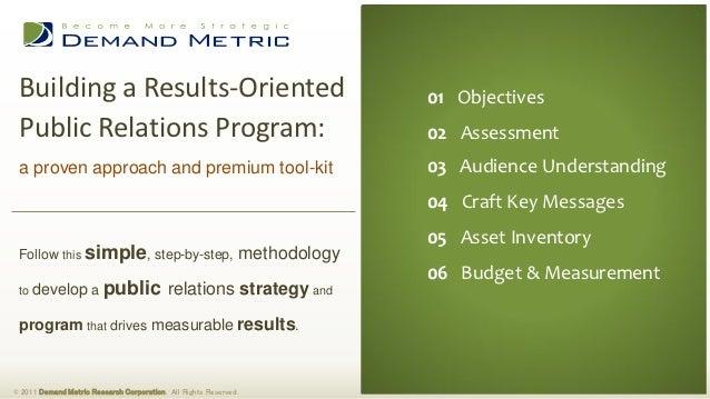 Public Relations Plan Methodology & Tool-Kit