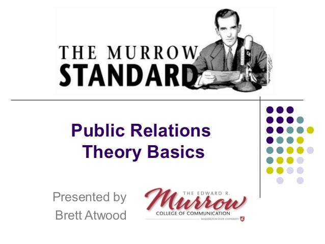 Public Relations  Theory Basics  Presented by  Brett Atwood
