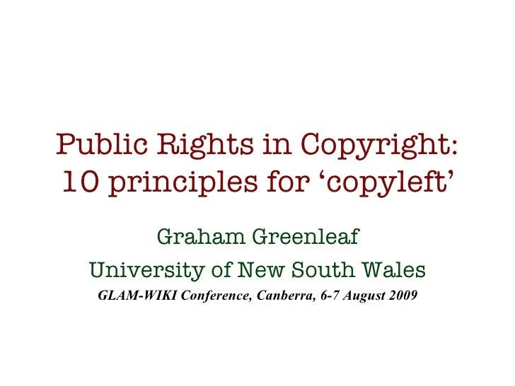 Public Rights in Copyright - Greenleaf