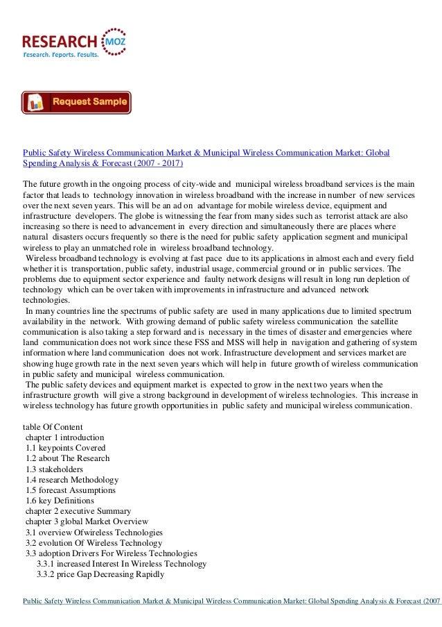 Global Wireless Communication Market & Municipal Wireless Communication Market-2017