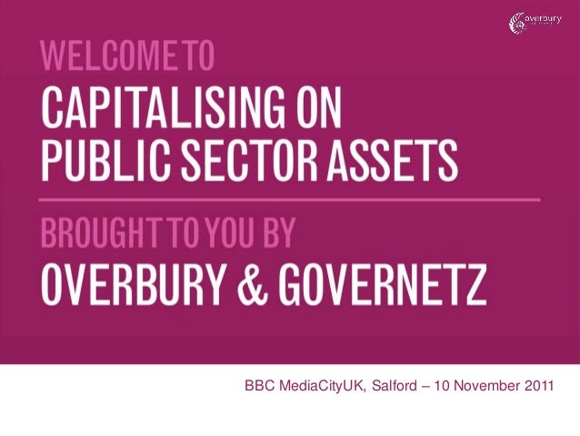 Capitalising on Public Sector Assets