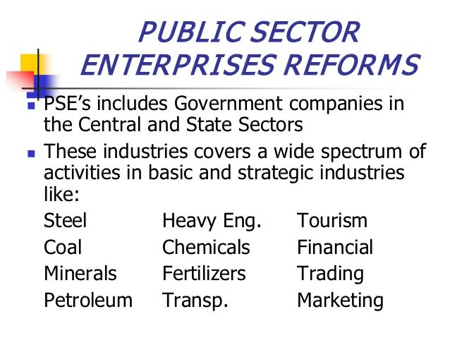 Public sector enterprises reforms (2)