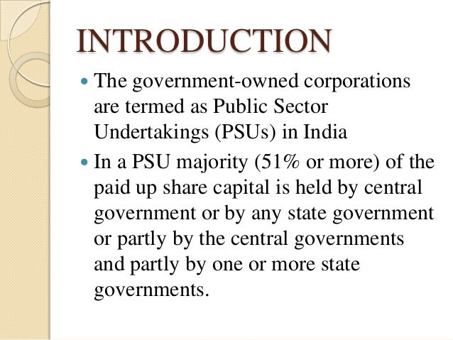 Thesis on public service