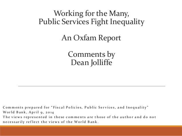 Public services fight inequality