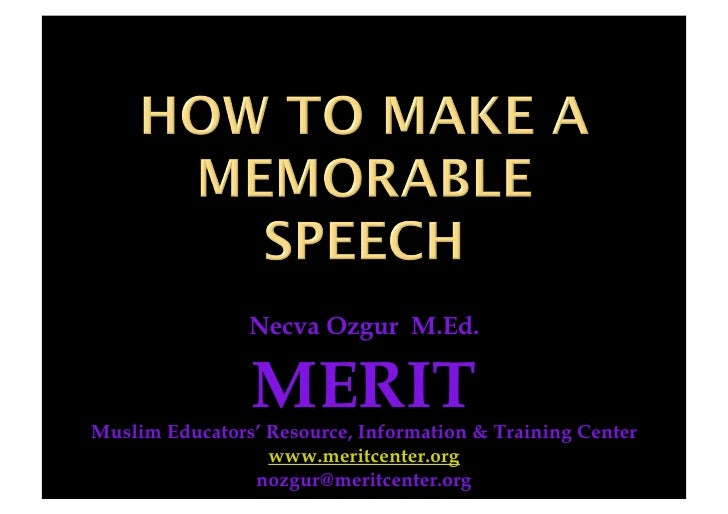 Necva Ozgur M.Ed.                  MERIT Muslim Educators' Resource, Information & Training Center                   www.m...