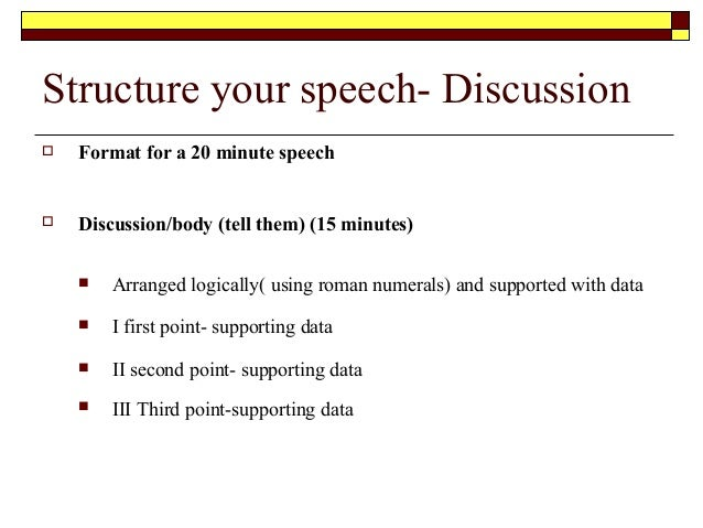 How to write a public speaking speech