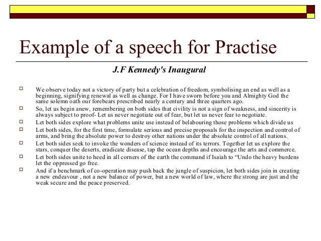 Speech Essay Sample