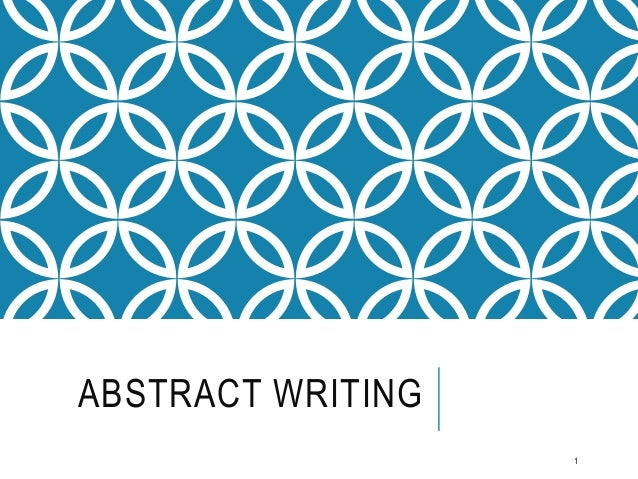 what is an abstract writing assignment