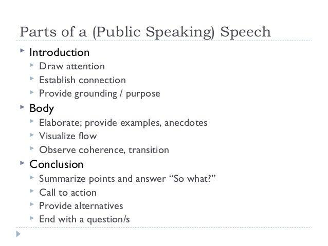 public speaking definition