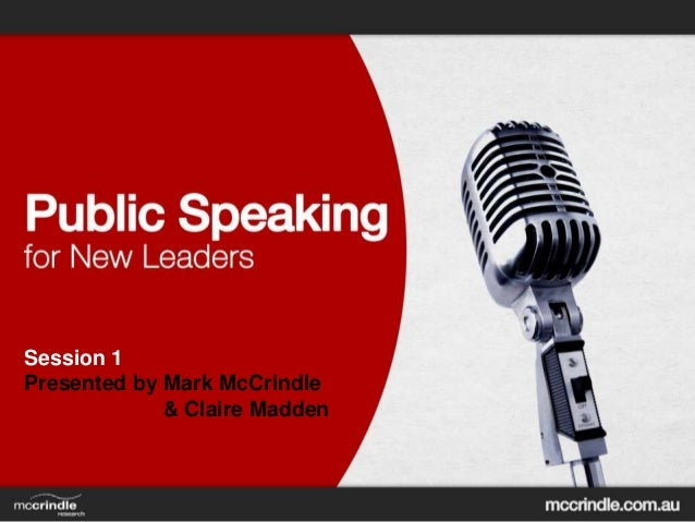 Public Speaking for New Leaders [session 1]