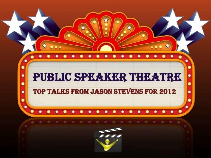 Jason Stevens - Event Speaking 2012