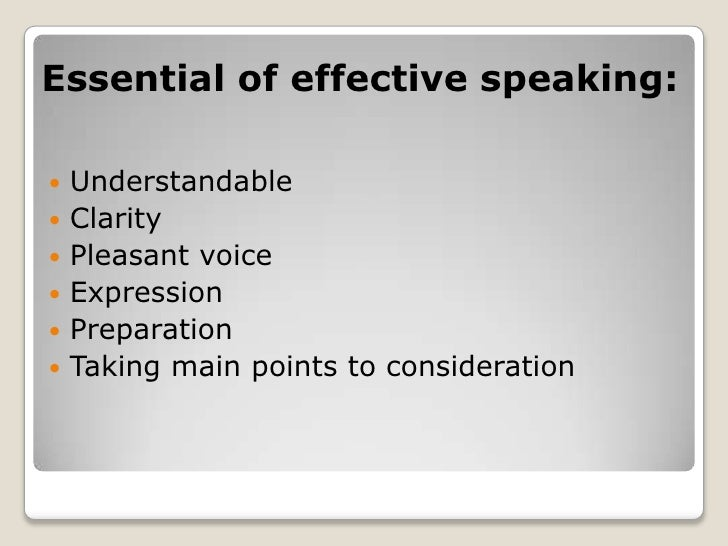 how to give effective public speech